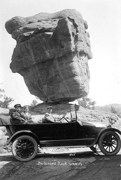 Balanced Rock, located on Route 66 just outside of Albuquerque, NM