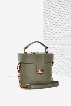 Awe Structured Leather Bag - Accessories | Bags + Backpacks
