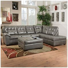 If I win, I need a new sofa!  Simmons® Tonto Seal 2-Piece Sectional at Big Lots. $699.00