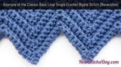 crochet ripple pattern edging - Google Search