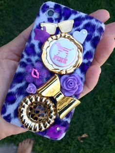 Love Pink/ Victoria's Secret Theme Purple Leopard by iHeartZena, $45.00