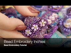 Bead Embroidery Inchies A Tiny Canvas ! Big Results Bead Embroidery Inchies A Tiny Canvas ! Bead Embroidery Tutorial, Polymer Clay Embroidery, Beaded Embroidery, Beading Patterns, Embroidery Patterns, Inchies, Beaded Cross, Fabric Beads, Beaded Brooch