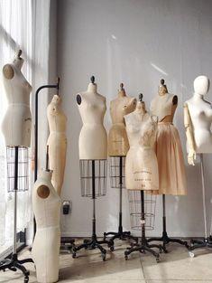 fashion designer's workspace // Adored Vintage - Pin Zeit - - Fashion Design Studio – dressmaker's mannequins; fashion designer's workspace // Adored Vintage – Source by dninaw