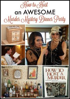 This looks SO fun! How to host a murder mystery dinner party.