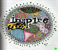 Colorful zentangle style doodle