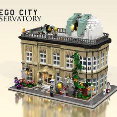 City Observatory. More at Archbrick.com #lego #legobuilding #legoarchitecture #observatory