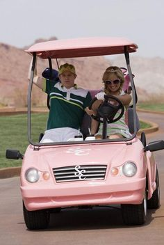 I would take up golfing if I could have my own pink golf cart with my initials on it...