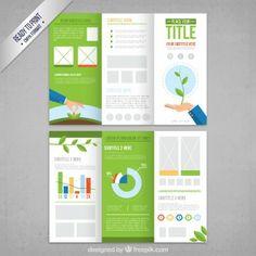 Écologique modèle de brochure                                                                                                                                                                                 Plus                                                                                                                                                                                 Plus