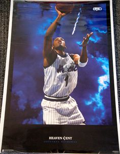 Anfernee Penny Hardaway HEAVEN CENT Vintage Orlando Magic 1996 Costacos Poster - Sold for $19.99 August 2013