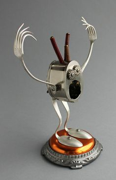Found Object Robot Assemblage Sculpture By Brian Marshall | Flickr - Photo Sharing!