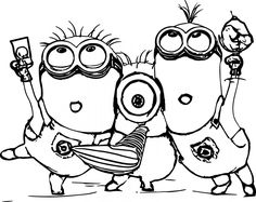 minion coloring pages printable minion coloring pages free