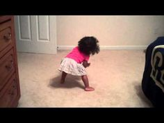18 month old dancing to her favorite song by Beyonce - YouTube