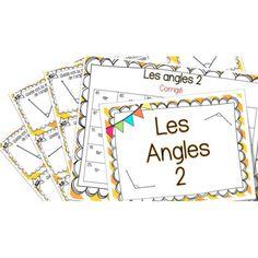 Les angles 2 - Cartes à tâches ! Montessori Math, Homeschool Math, Fun Math, Math Games, Math Figures, Angles, Daily 3 Math, 5th Grade Math, Numeracy