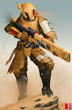 "the-imperium-of-mann: "" Tau Fire Warrior by TheDarkScion. """