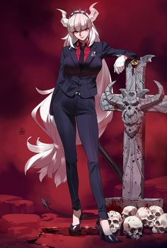 Character Concept, Character Art, Character Design, Angel Manga, Demon Girl, Chica Anime Manga, Monster Girl, Fantasy Girl, Anime Comics