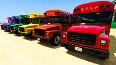 Disney Pixar Cars Spiderman and Colors School Buses Super Jump (Nursery ...