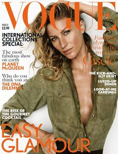 Gisele Bündchen in Chanel for British Vogue Cover March 2015