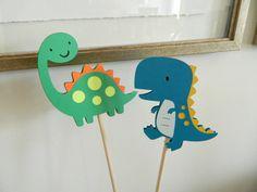 4 palos de pieza central dinosaurio, dinosaurio de mesa decoración, fiesta de cumpleaños de dinosaurio, dinosaurio Baby Shower
