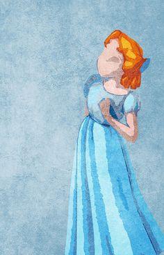 Peter Pan inspired design (Wendy)/credit to artist Disney Pixar, Arte Disney, Disney And Dreamworks, Disney Magic, Disney Art, Disney Songs, Disney Quotes, Disney Dream, Disney Love