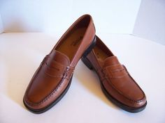 Bass Weejuns Brown Leather Womens Shoes Casual Flats Penny-Loafers Size 6.5 M #BassWeejuns #FlatsPennyLoafers #CasualWork