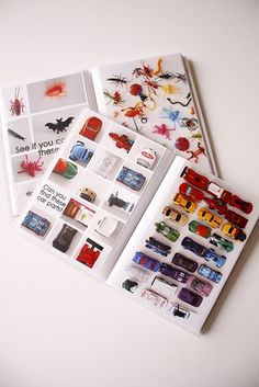 """Create DIY iSpy books t I've seen this idea for """"color"""" and """"alphabet"""" books too, genius!  good thing to work on, save in your computer and wait for """"free book"""" or """"buy one get one"""" coupons from shutterfly or snapfish. @Nicole Wilcox"""