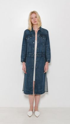 Denim Trench by Helmut Lang