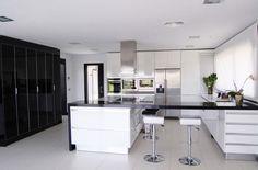 Black And White Kitchen Decor: For White Black Kitchen Decor, Black And White  Kitchen Dining Decor, Black And White Interior Minimalist Kitchen House  Decor, ...