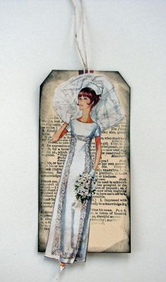 Vintage HandMade Wedding Gift Tag by LuluSandbar on Etsy Handmade Wedding Gifts, Wedding Gift Tags, Handmade Gifts, Diy Crafts, Weddings, Unique Jewelry, Photography, Etsy, Vintage