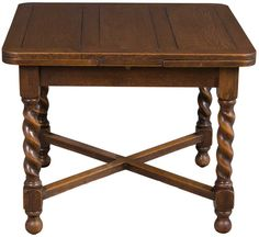 Antique Oak English Pub Table