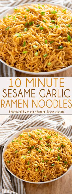 Sesame Garlic Ramen Noodles Recipe - The best ramen noodle recipe made easy at home with a simple and super flavorful sauce! Learn how to make ramen taste even better in a snap! made ramen noodle recipe SESAME GARLIC RAMEN NOODLES RECIPE Comida Ramen, Best Ramen Noodles, Recipes With Ramen Noodles, Easy Noodle Recipes, Ramen Noodle Recipes Chicken, Raman Noodles, Garlic Noodles Recipe, Chinese Noodle Recipes, Garlic Recipes