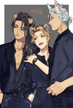 Handsome Anime Guys, Cute Anime Guys, Fantasy Characters, Anime Characters, Style Anime, Disney Au, Twisted Disney, Shall We Date, Boy Art