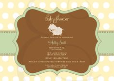 Little Lamb Baby Shower Printable Package in by EmmyJosParties, $15.00