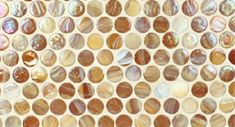 Materials Marketing glass penny rounds touch a lot of design bases. Glass as a cool medium is one. Texture and color are two more. The round shape is eye catching and creates an interesting perspective. Take a look at the colors below and feel free to create! - See more at: http://www.mstoneandtile.com/tiles/penny-round-glass-tile/#sthash.XvlzhVU9.dpuf