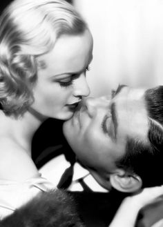 Clark Gable* and Carole Lombard* close up