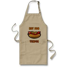 Hot Dog Vendor Apron- Serving Hot Dogs fresh off the grill. #hotdog #grilling #grill #bbq #gifts #apron #holiday