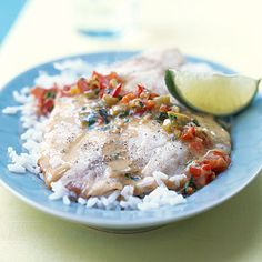 Broiled tilapia with Thai coconut curry sauce. I make this all the time and it is one of my all time favorite recipes!