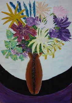 Martwa natura 3 to obraz zainspirowany stylem awangardowym i przedstawieniami realistycznymi. Różne odcienie fioletu i korespondujące z nimi róż i żółcie tworzą ciekawą atmosferę, nadając obrazowi charakteru.  Obraz do kupienia na: https://www.artmakers.pl/artwork/mateusz-zeniuk/martwa-natura-3