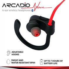 Enjoy your favourite music with ARCADIO's noise cancelling over-ear headbands and on-ear waterproof headphones with extra bass, bluetooth and wireless functionality. Waterproof Headphones, Ear Headbands, Noise Cancelling, Wireless Headphones, Waves, Wireless Earbuds, Beach Waves, Wave
