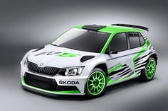 """""""It's nice, but it sure would look better as a rally car"""" was pretty much our take on the 2015 Skoda Fabia. Lo and behold, Skoda took our advice and suited up its Volkswagen Polo-based subcompact for rally duty. Tuning Motor, Skoda Fabia, 3d Modelle, Volkswagen Polo, Performance Cars, Rally Car, Car Wrap, Sport Cars, Motor Sport"""