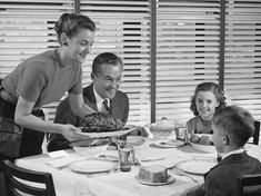 Inch Print - High quality print (other products available) - Family dinner, mother holding platter with roast on it - Image supplied by Fine Art Storehouse - Photo Print made in the USA 1950s Food, Fine Art Prints, Canvas Prints, Vintage Recipes, 1950s Recipes, Second Child, Popular Recipes, Popular Food, Poster Size Prints