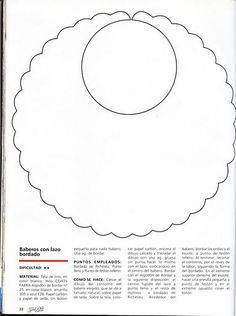 Arte com Encanto by Vastí Fernandes: Molde de Babetes