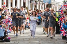 Olympic Torch Relay Visits the Pantiles, Tunbridge Wells -- once-in-a-lifetime moment!