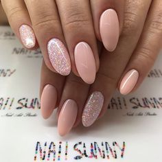 Pink manicure, manicure ideas, nail ideas, almond shape nails, happy na Pink Manicure, Nude Nails, Manicure Ideas, Nail Ideas, Hair And Nails, My Nails, Nagel Blog, Nagellack Trends, Happy Nails