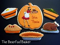 Thanksgiving cookies by thebearfootbaker, via Flickr