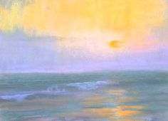 Pastel painting landscapes: Hazy Sunset by Peter Adams, pastel painting, 12 x 16. From Artist's Network - The most important of all the pastel painting lessons I've learned or, let's face it, stumbled upon after much trial and error, is to use a testing strip.