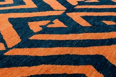 Inspired by textiles this bold geometric is a new design for CARINI Geometric Designs, Weaving, Nyc, Textiles, Kids Rugs, Wool, Orange, Inspired, Halloween