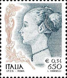 """1999 - """"Donna nell'arte"""": dipinto """"Ritratto di donna"""", del Pollaiolo databile al 1470-1472 circa e conservato nel Museo Poldi Pezzoli di Milano"""