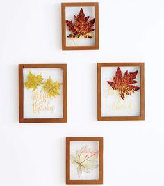 Fall Leaf Floating Frame Wall Decor