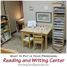 Reading and Writing Center in Preschool