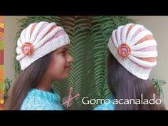 Gorro acanalado tejido en dos agujas o palitos en 4 tallas (una forma diferente de tejer!) - YouTube